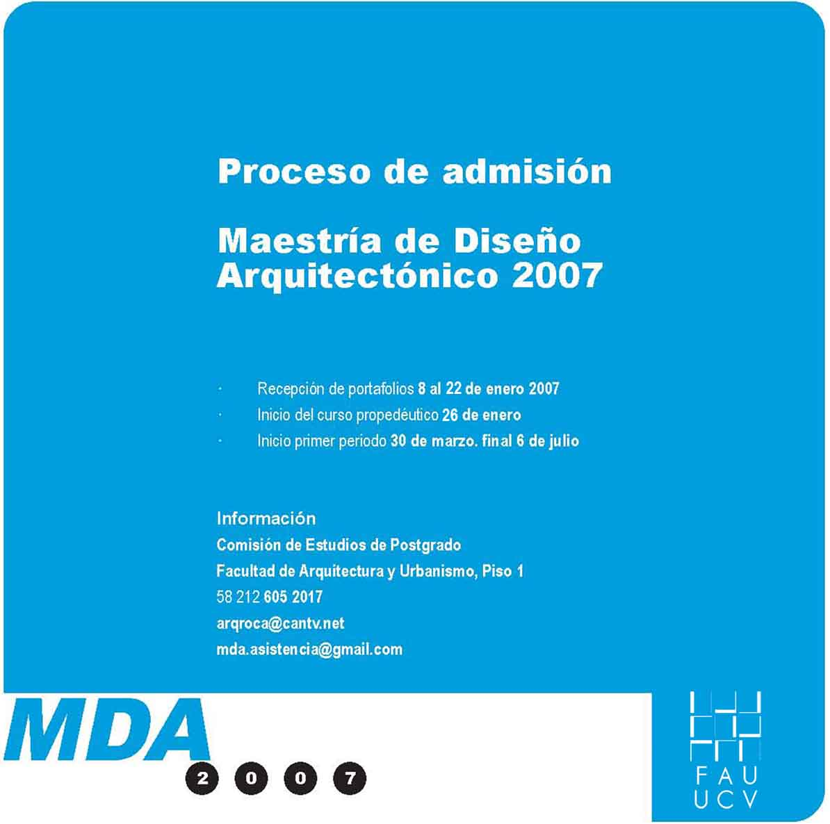 Maestr a de dise o arquitect nico 2007 arquitecturas for Maestria en interiorismo arquitectonico