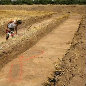 Marcado del área de excavación