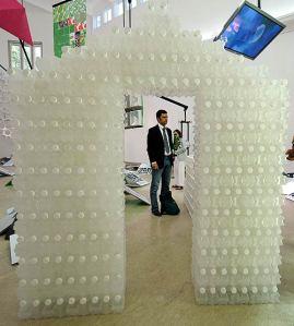 Las botellas de plástico