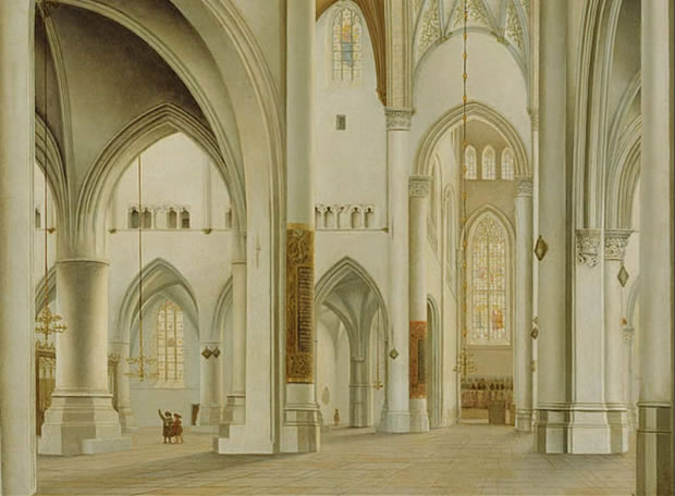 Iglesia de San Bavón de Haarlem - Pieter Janszoon Saenredam