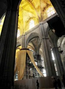Trabajos en la Catedral de Sevilla