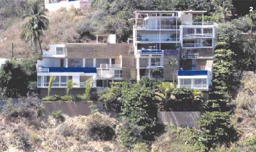 Conjunto La Chiripa, Acapulco, vista desde la Playa