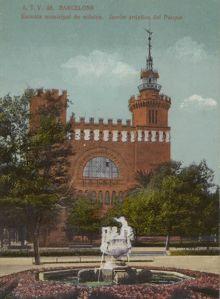 El edificio de El Castell hacia el 1900