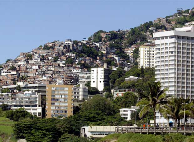 La favela de Vidigal, en Rio de Janeiro, Brasil