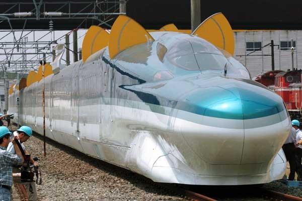 Último modelo del Shinkansen o tren bala japonés