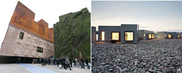 CaixaForum, de Herzog & De Meuron, en Madrid, y hotel Aire, en Bardenas, Tudela