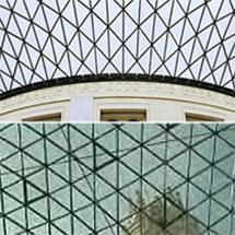 Imagen de la cúpula del British (arriba) y del Ayuntamiento (abajo)