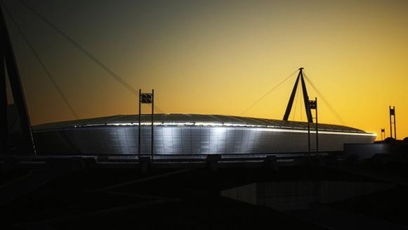 Recreación del nuevo estadio de Juventus - en construcción