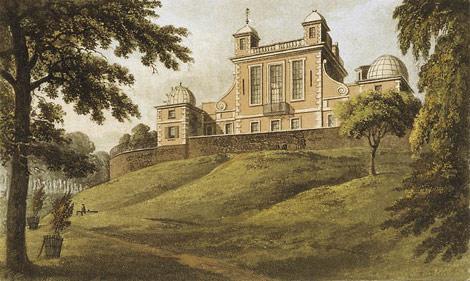Observatorio de Greenwich, pintura de T. H. Shepherd