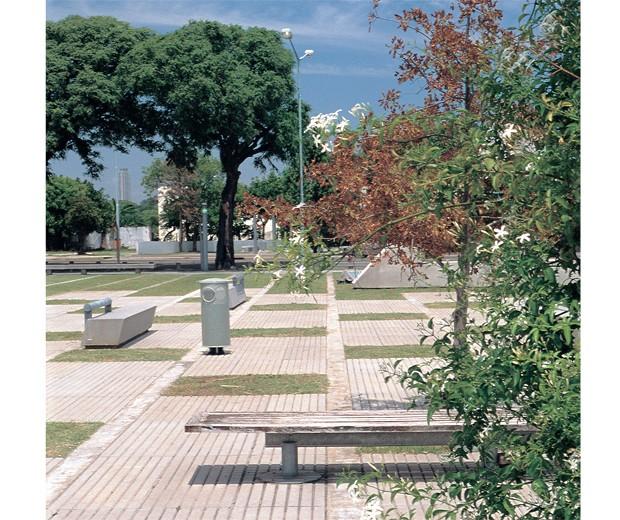 Vista del Parque de la Memoria, Buenos Aires