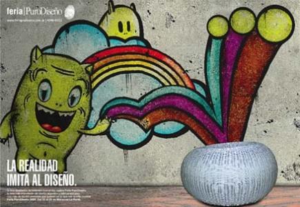 Afiche - Novena edición de la feria PuroDiseño