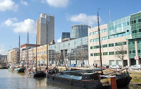 Rotterdam desde el puerto