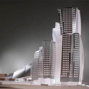 Maqueta del edificio que proyecta Frank Ghery para la Sagrera