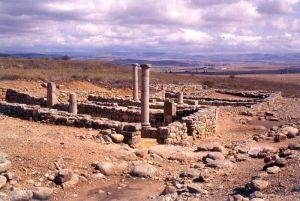 Vista de las excavaciones arqueológicas de Numancia (Soria, España)