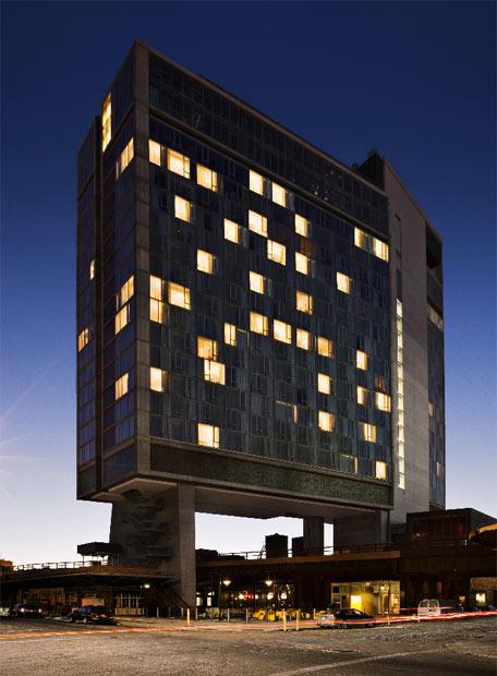 Vista del nuevo hotel de la cadena Standard.