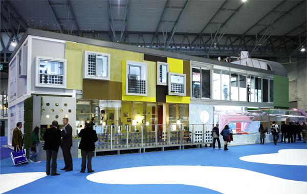 Módulos prefabricados en el Salón Construmat de Barcelona. | elmundo.es