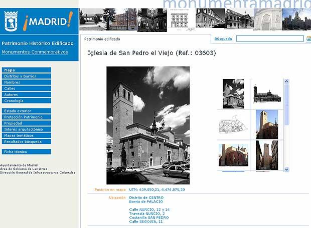 Imagen tomada de la nueva web municipal, monumentamadrid.es.
