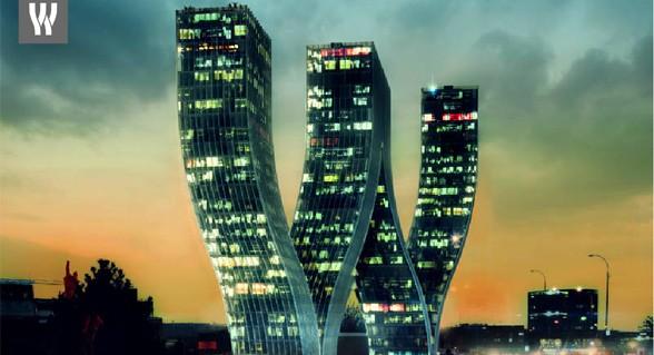"""W"" es un diseño del estudio de arquitectura danés Bjarke Ingels Group"
