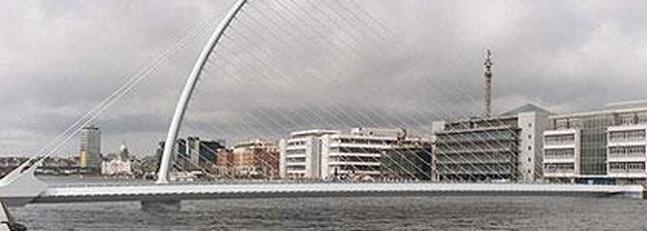 Samuel Beckett Bridge, puente de Calatrava para Dublín, Irlanda