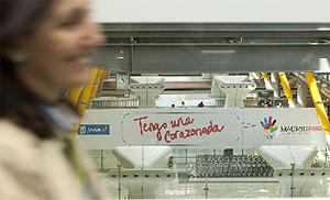 El CIO ha llegado a la T-4 de Barajas. (Foto: Arroyo)