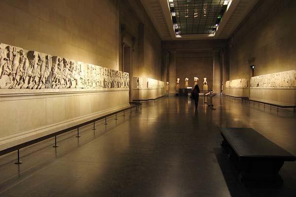 Mármoles de Elgin expuestos en el British Museum - Foto:Andrew Dunn, La Nacion