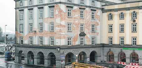 Instalación de Hito Steyerl en los edificios Brückenkopf, en Linz (Austria)