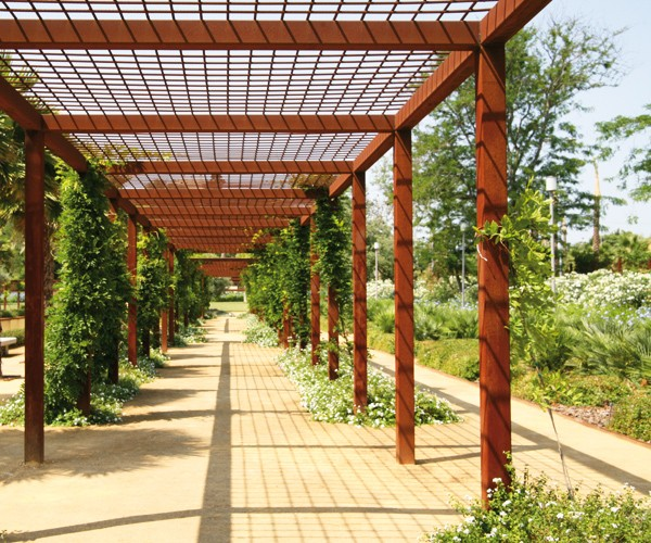 Jardín escénico en Jerez de la Frontera, España.