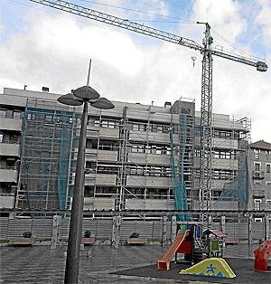 Obras de edificación de pisos en Basauri, donde no se ha hecho ni una VPO en 15 años | I. Andrés