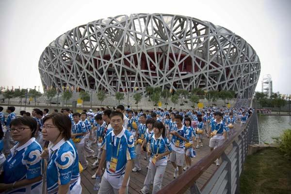 """Estadio """"Nido de Pájaro"""", Juegos Olímpicos de Pekín ."""