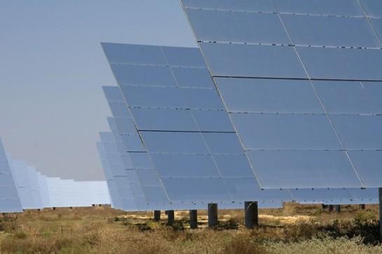 Uno de los paneles utilizados en Sevilla, España, para el sistema basado en el esquema de energía solar concentrada