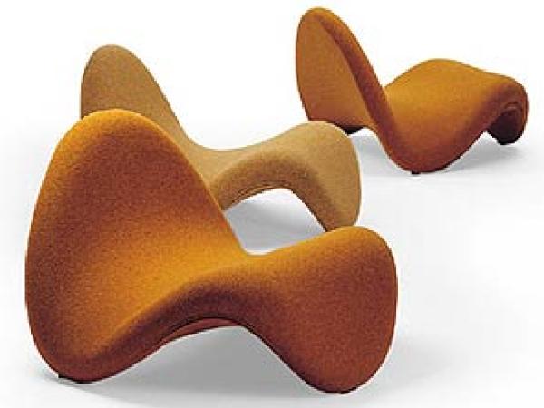 """Pierre Paulin fue famoso por sus diseños de look """"space-age"""" - Silla Tongue"""