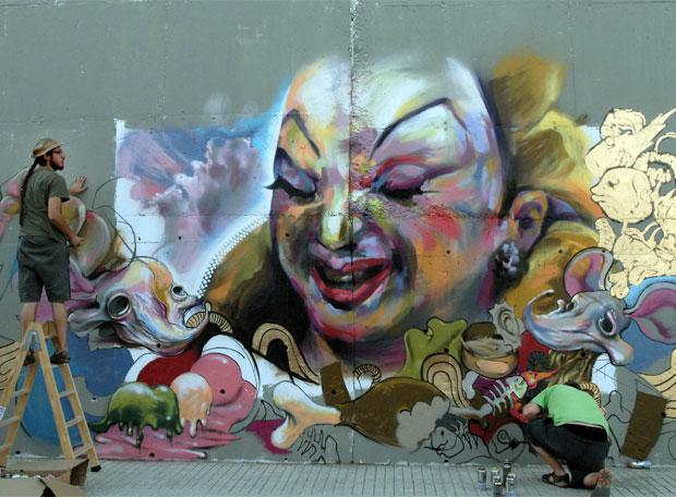 Graffiti basado en Divine, ganador del certamen celebrado en Linares.- JOSÉ MANUEL PEDROSA