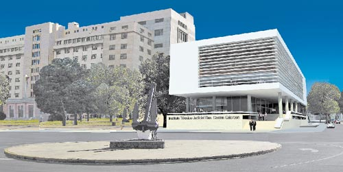 Esquina. El bloque se adueña del terreno aprovechando al máximo su superficie edificable, sin competir en altura con los edificios linderos