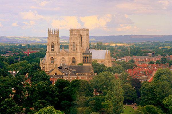 Vista panorámica de York y sus idílicos alrededores