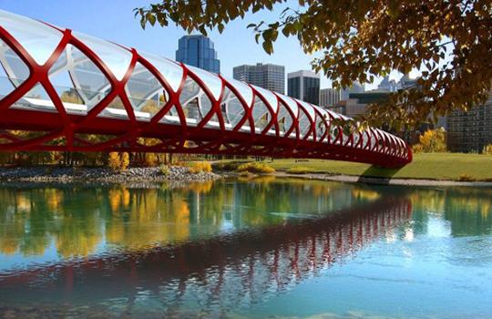 Santiago Calatrava's Peace Bridge