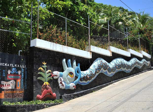 Villa con murales de Diego Rivera