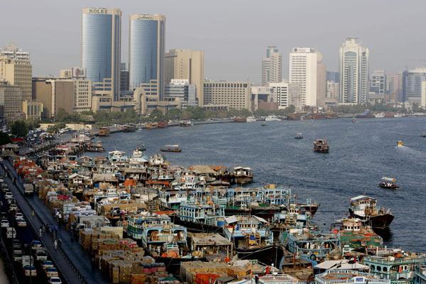 Vista de la bahía de Dubai, el emirato del ladrillo. | AFP