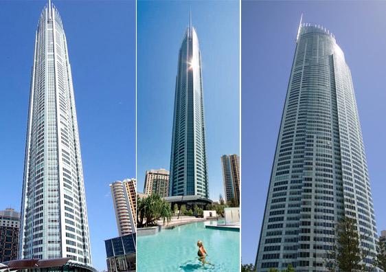 Esta mole de 323 metros de altura y 80 plantas está inspirada en la antorcha de los Juegos Olímpicos de Sydney 2000 y se alzó con el primer premio del Emporis Skyscraper Award en 2005.