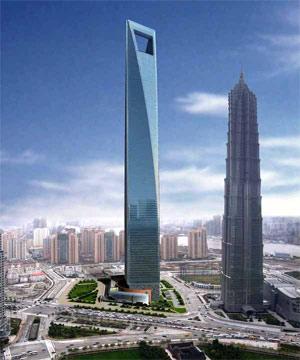 El Centro Financiero Mundial de Shanghai (SWFC), junto a la torre Jin Mao. | elmundo.es