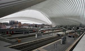 La nueva estación de tren Guillemins de Lieja / AFP