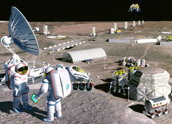 Las colonias humanas en la Luna, imaginadas por la NASA y el diseño de De León Foto: NASA