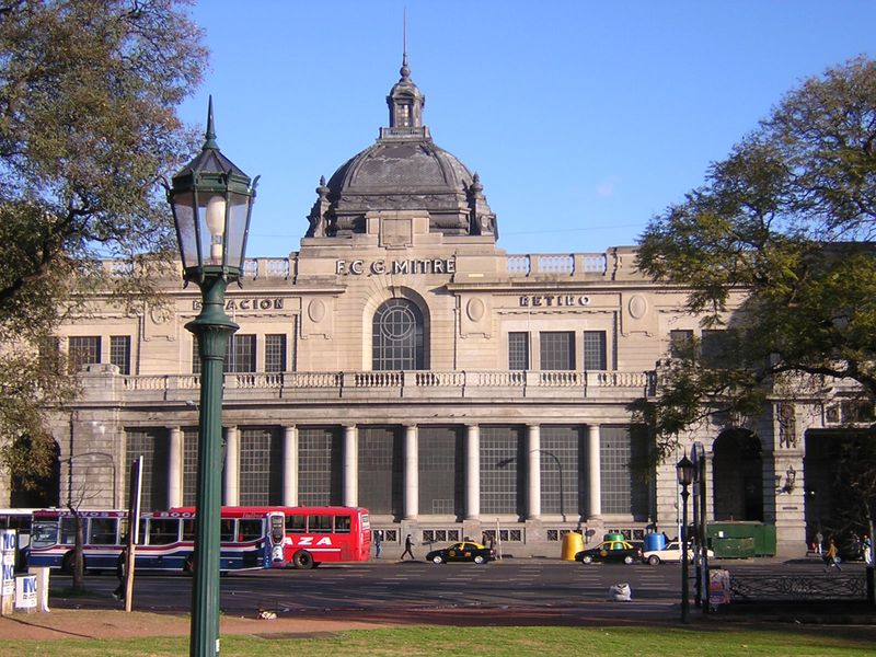 Ferrocarril Mitre, fachada Estacion (terminal) Retiro, Buenos Aires - Argentina
