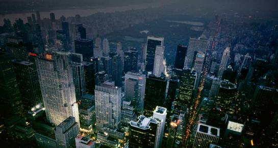 Manhattan y Central Park al anochecer  fuente:  portada de http://www.bing.com, buscador de Microsoft