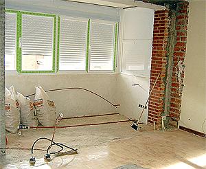 Interior de una vivienda en fase de reforma.   elmundo.es