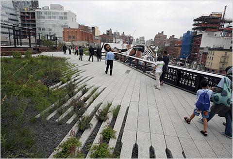 Parque High Line en las alturas de Nueva York