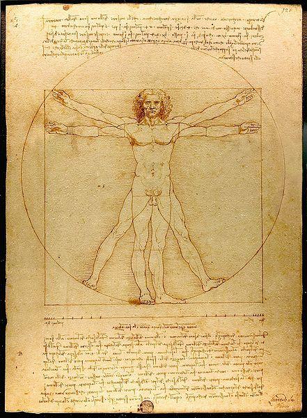Hombre de Vitruvio, de Leonardo da Vinci.