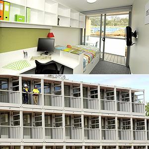 Vista interior y fachada de los futuros apartamentos para estudiantes | Efe