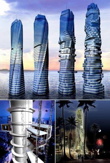 La Rotating Tower será el primer edificio giratorio que se construye