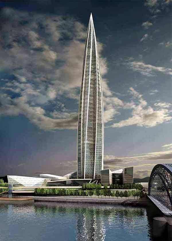 Proyecto de la Torre Okhta | Inhabitat