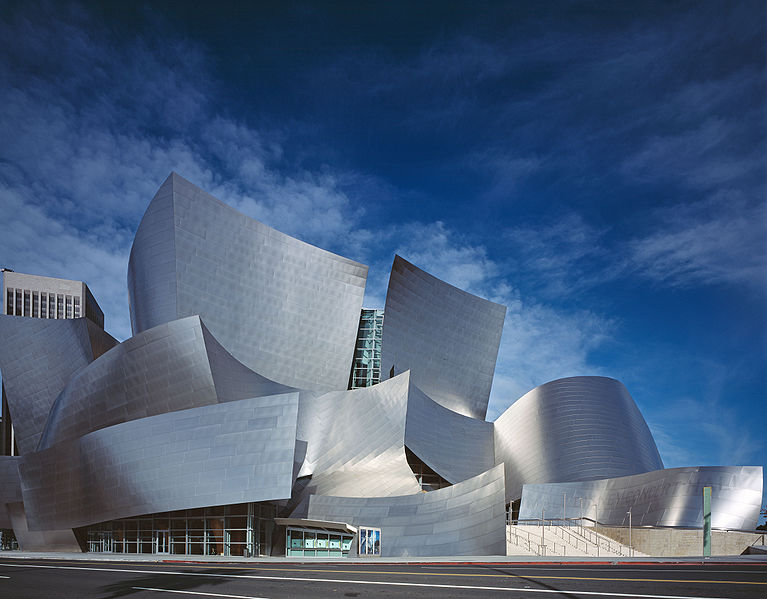 The Walt Disney Concert Hall, home to the Los Angeles Philharmonic, by Frank Gehry